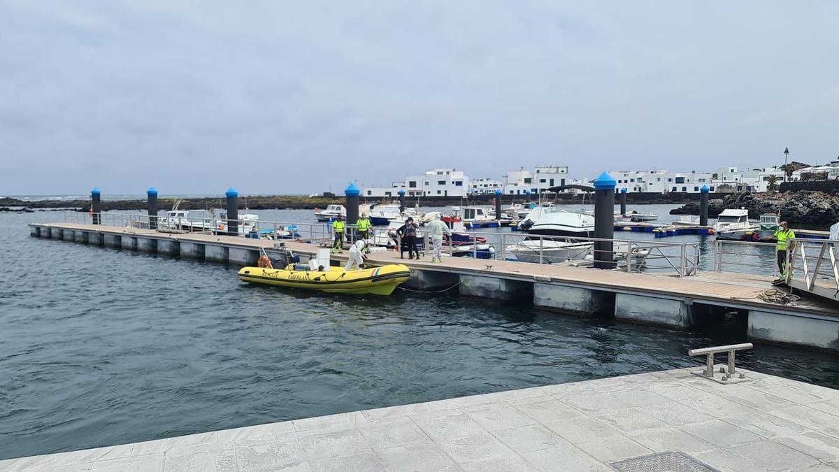 Migrantes localizados en Lanzarote