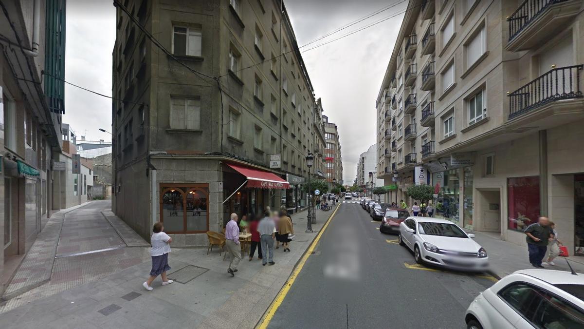 La calle Justo Martínez de A Estrada.