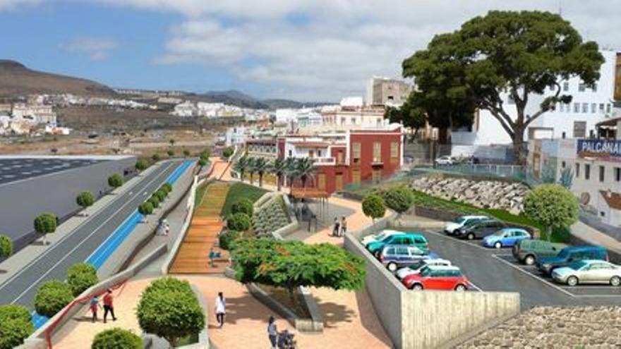 Ciudadanos pide que finalice el proyecto de Corredor Verde  de Tamaraceite