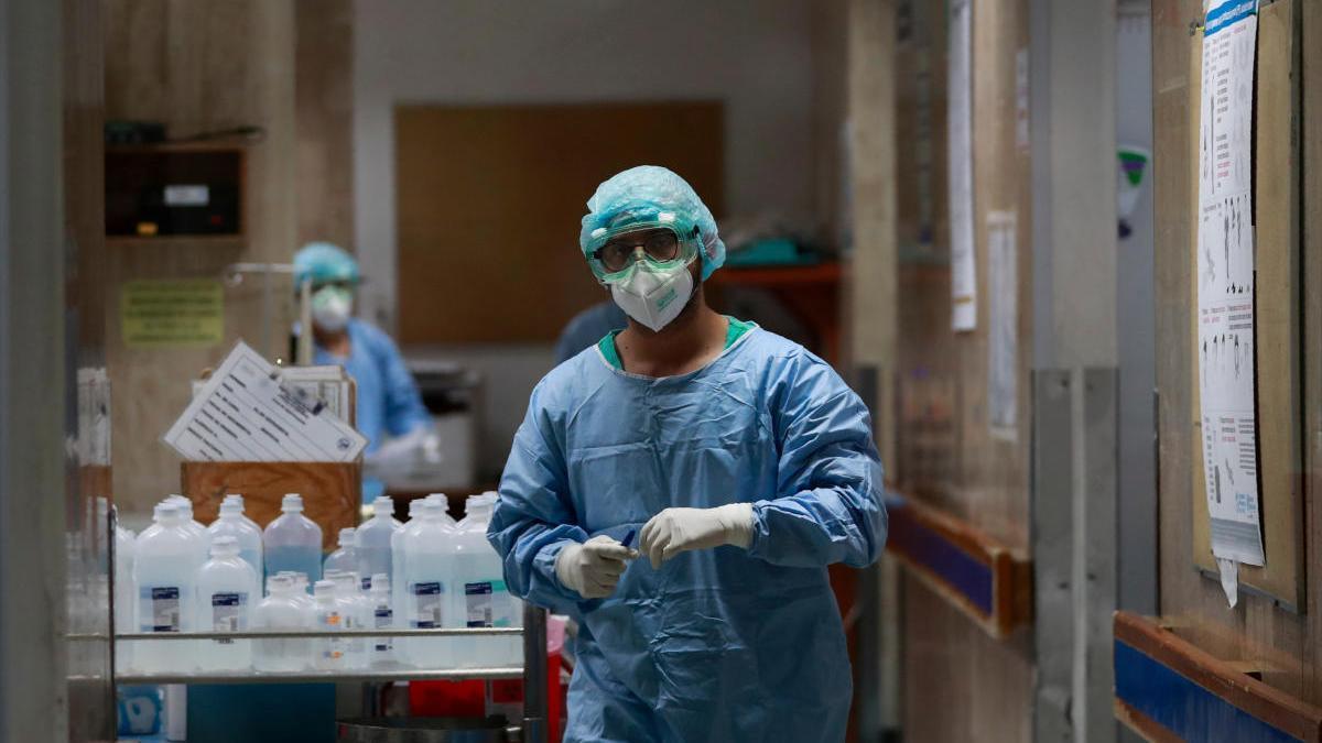 Trabajadores sanitarios en un hospital de México.