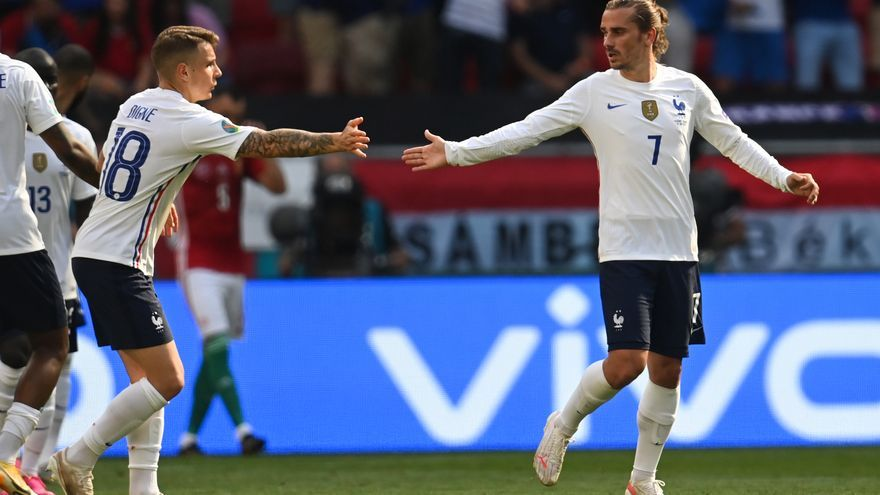 Un gol de Griezmann evita la derrota de França a Budapest