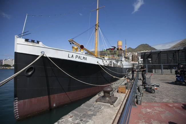 Rodaje en la antigua estación de jet-foil y el correillo La Palma