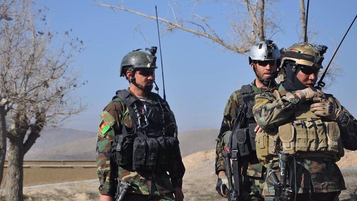Militares afganos destacados en el oeste de Afganistán.