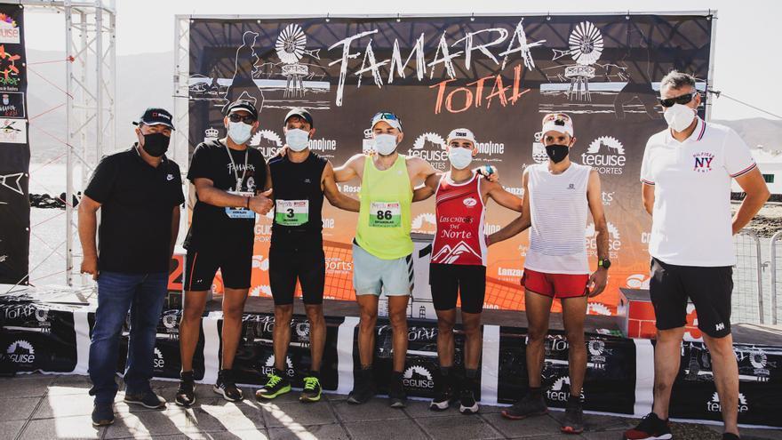 Aitor Navarro y Cristofer Clemente compartieron primer puesto en la Famara Total