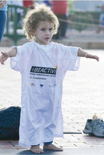 Está claro que la camiseta también le servirá para la próxima edición del BeActive Night. Quería esa talla.