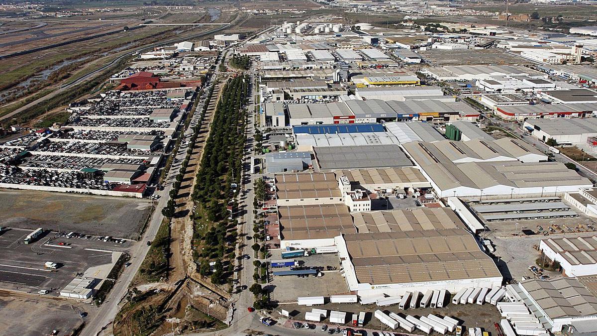 Imagen aérea del polígono Guadalhorce.