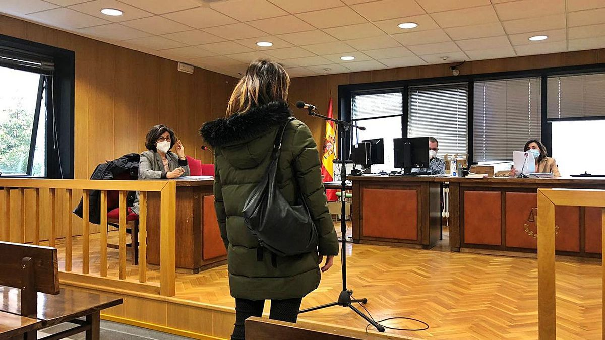 Una vista de conformidad en el Juzgado de lo Penal 1 de Vigo, este año.     // FDV