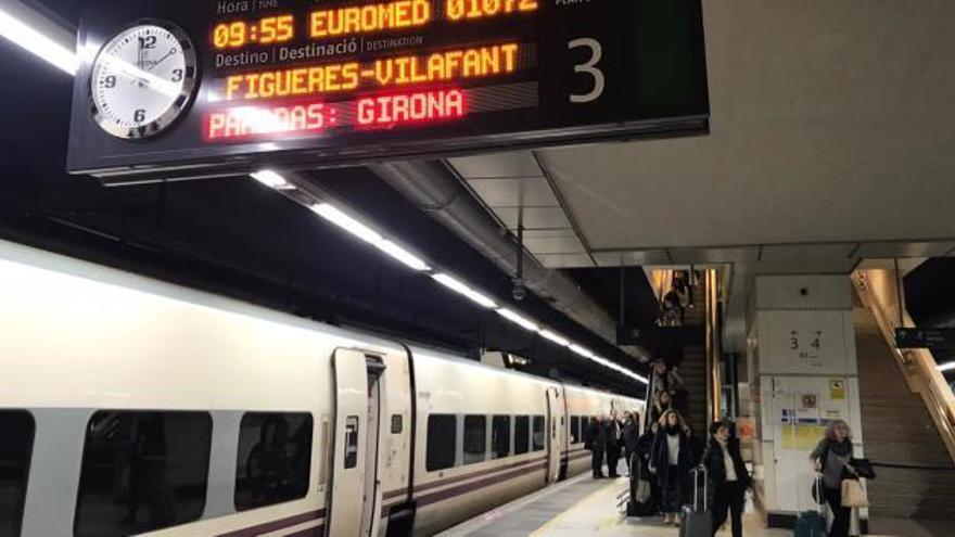 El Euromed estrena trayecto con retrasos pero sin incidentes en la nueva variante