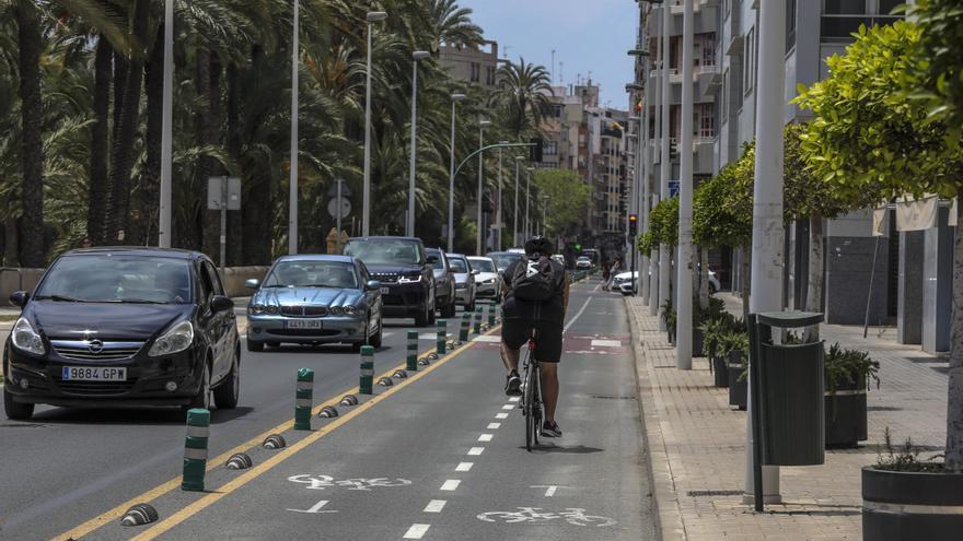 Los dos nuevos carriles bici en Elche