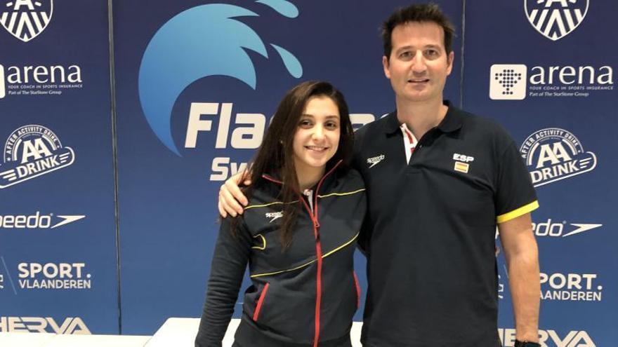 Alba Herrero, del Club Tenis Elche, logra dos sextos puestos en Amberes