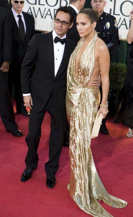 La actriz Jenifer López y su marido en 2009