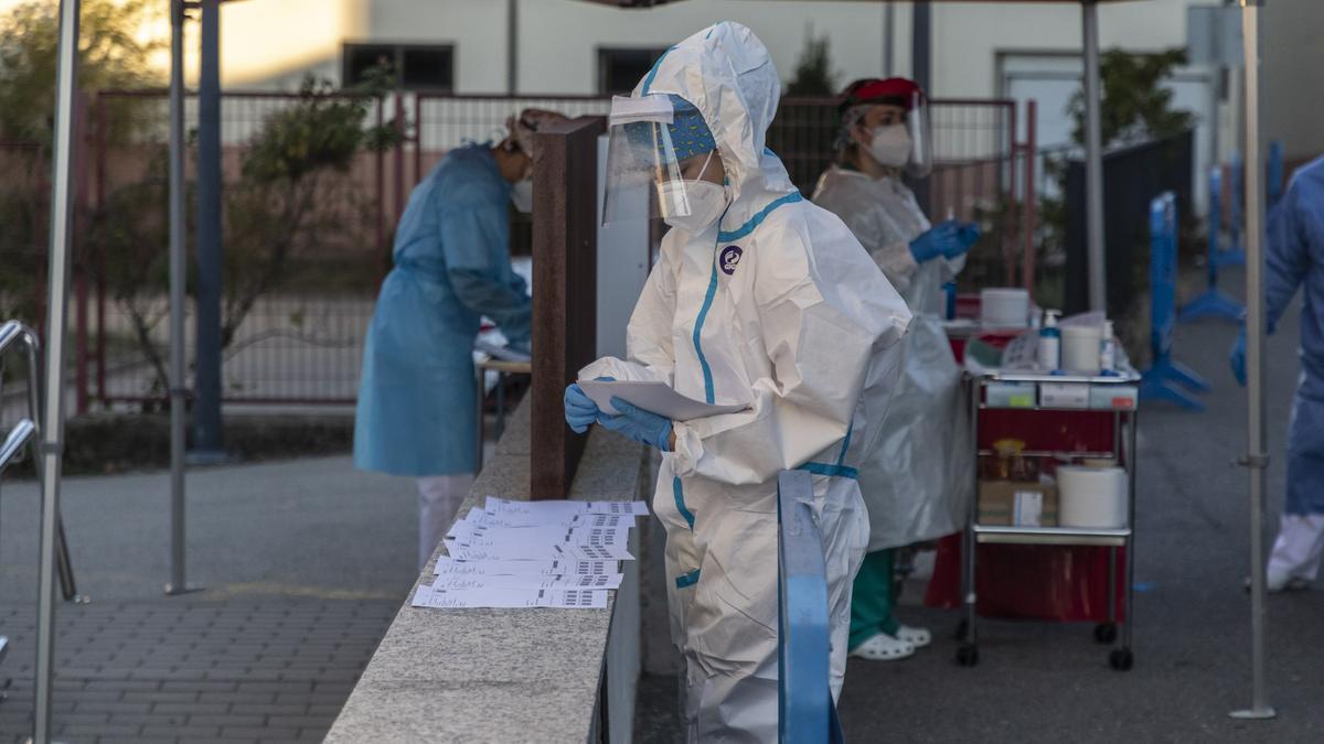 Pruebas PCR realizadas esta mañana en el Centro de Salud de Puebal de Sanabria