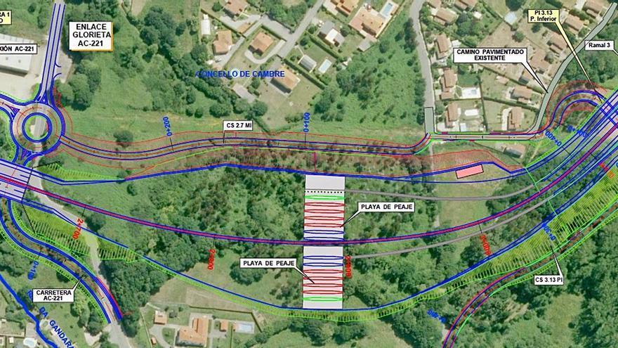 La Xunta aleja el trazado de la vía ártabra del río de A Gándara y avanza en el enlace con la AP-9