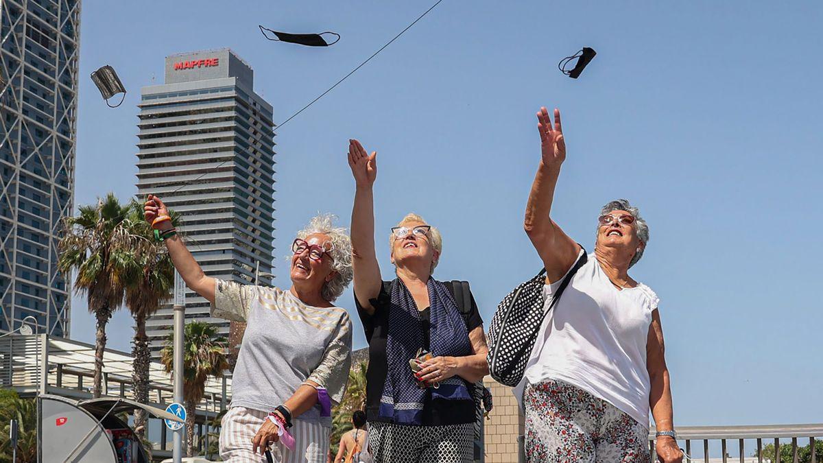 Anuncio del fin de la obligación de llevar mascarilla en espacios públicos.