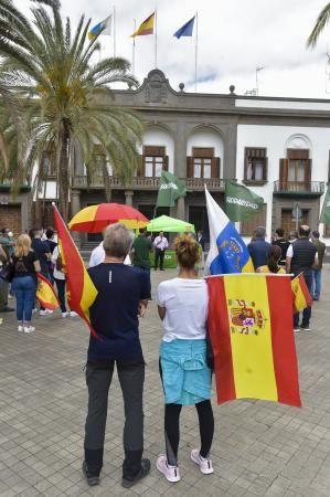 Manifestación de Vox contra la migración en Las Palmas de Gran Canaria