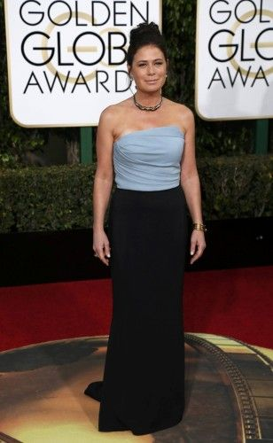 Maura Tierney arrives at the 73rd Golden Globe Awards in Beverly Hills