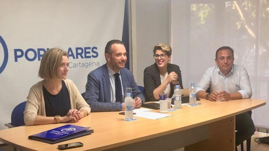 Noelia Arroyo se estrena como candidata del PP a la Alcaldía