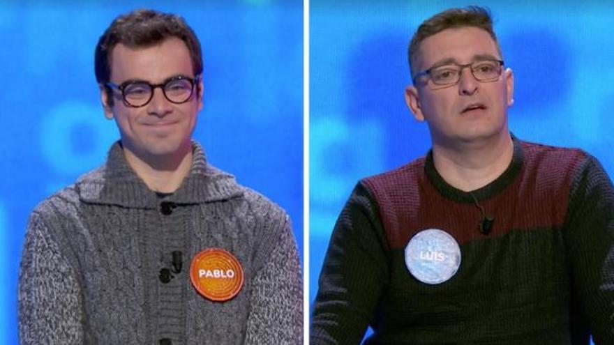 La rivalidad del canario Pablo y Luis en 'Pasapalabra' llega a su fin tras 80 programas