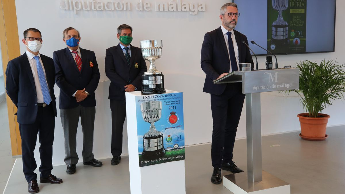 Acto de presentación de la LXXXI Copa Iberia de Golf.