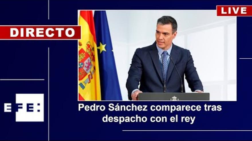 Pedro Sánchez comparece tras reunirse con el Rey