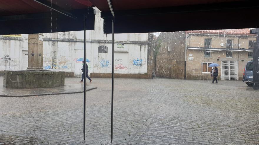Así fue la tromba de agua que cayó sobre Vilagarcía