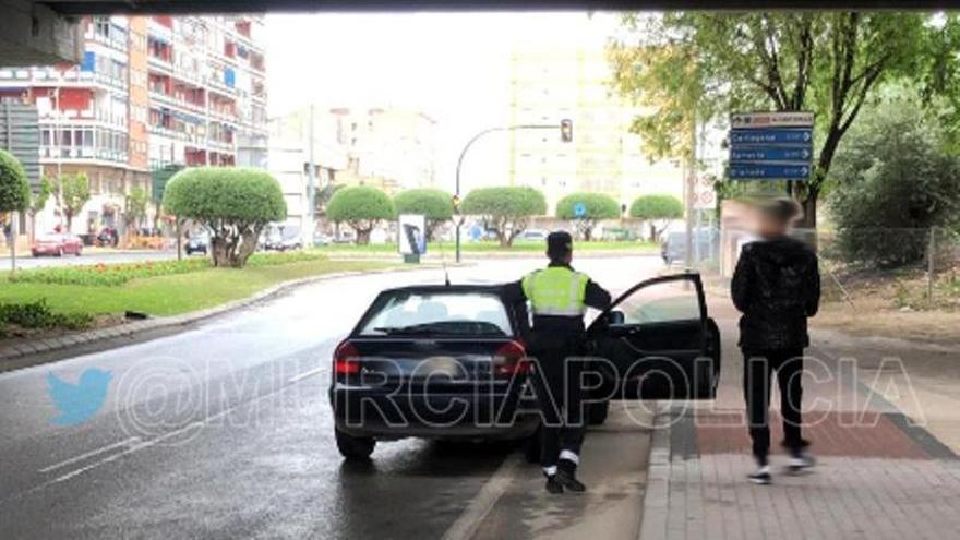Detenidos siete conductores por circular borrachos ayer en Murcia