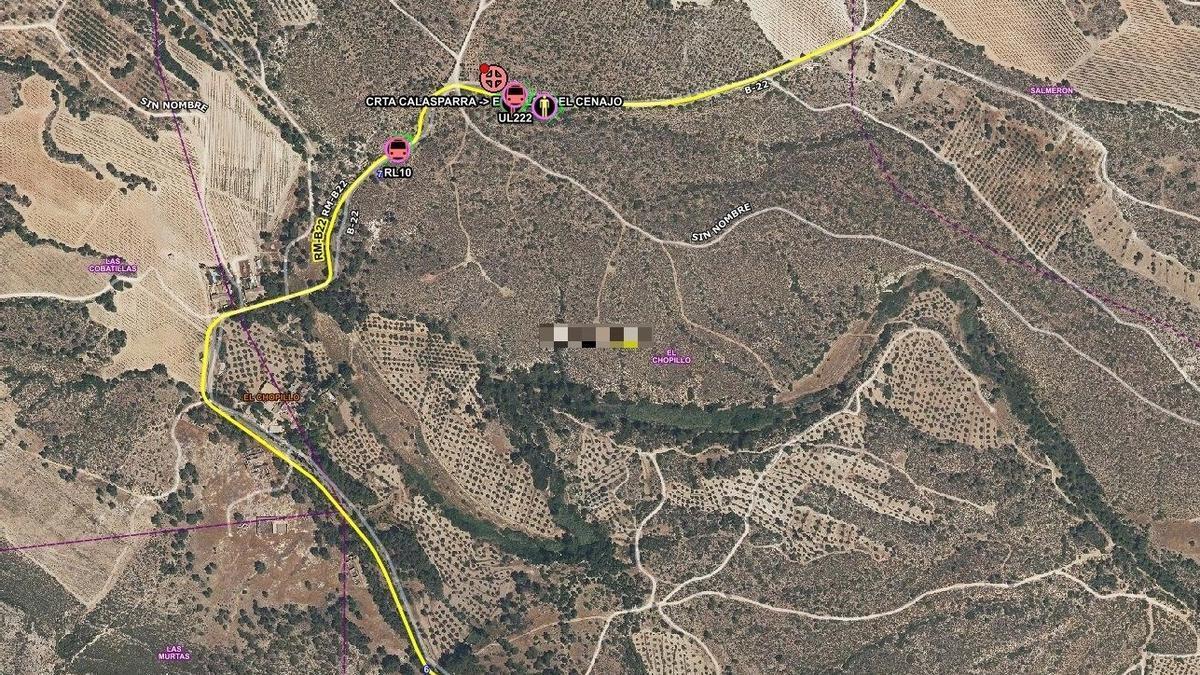 Efectivos del Plan Infomur sofocan un incendio en una furgoneta junto al monte en Moratalla