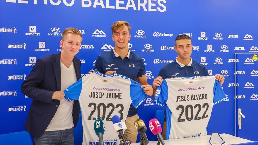 El Atlético Baleares presenta a Josep Jaume y Jesús Álvaro con la mirada puesta en Vinicius Tanque