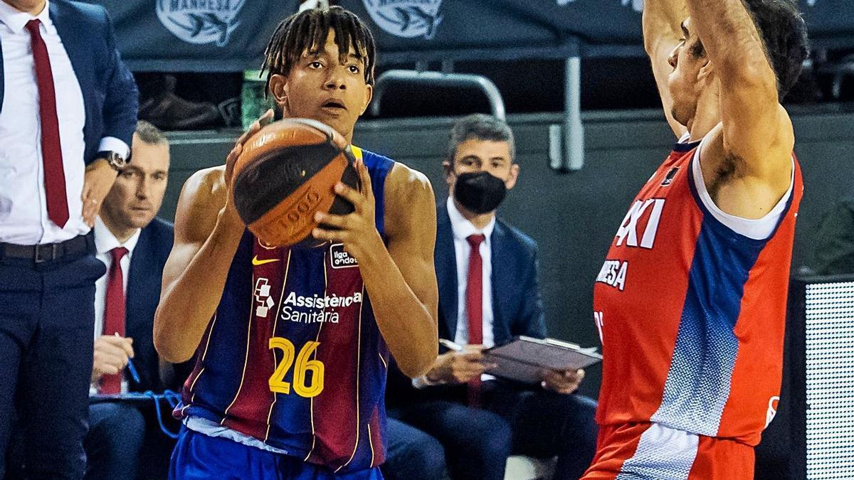 El inquer Caicedo debuta con el Barça