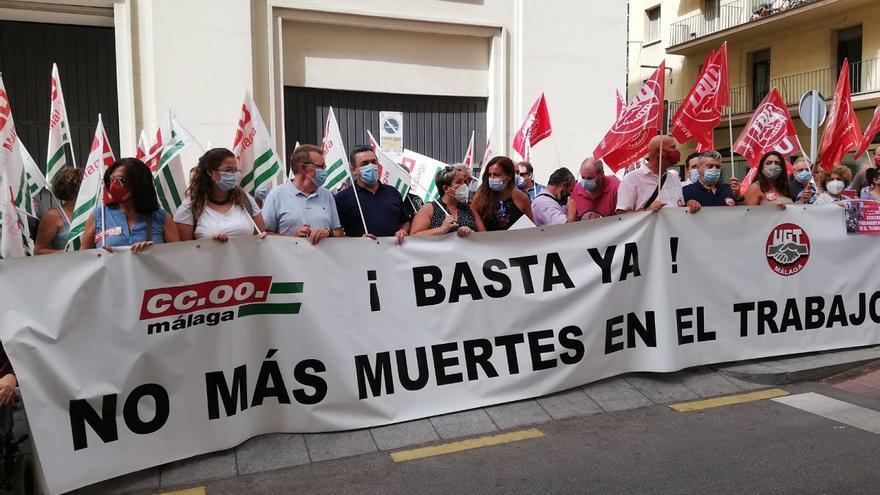 Los sindicatos denuncian el repunte de los accidentes de trabajo en Málaga y dicen que la ley no se cumple