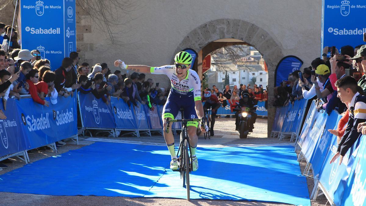 Un momento de la 40ª edición de la Vuelta ciclista a Murcia
