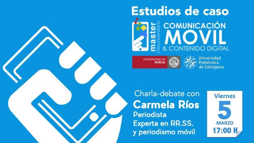 La periodista Carmela Ríos, experta en redes sociales, imparte una conferencia en la Universidad de Murcia