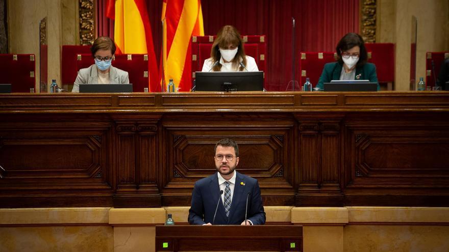 """Aragonès pide a Junts """"cumplir su palabra"""" e investirlo para evitar la repetición electoral"""