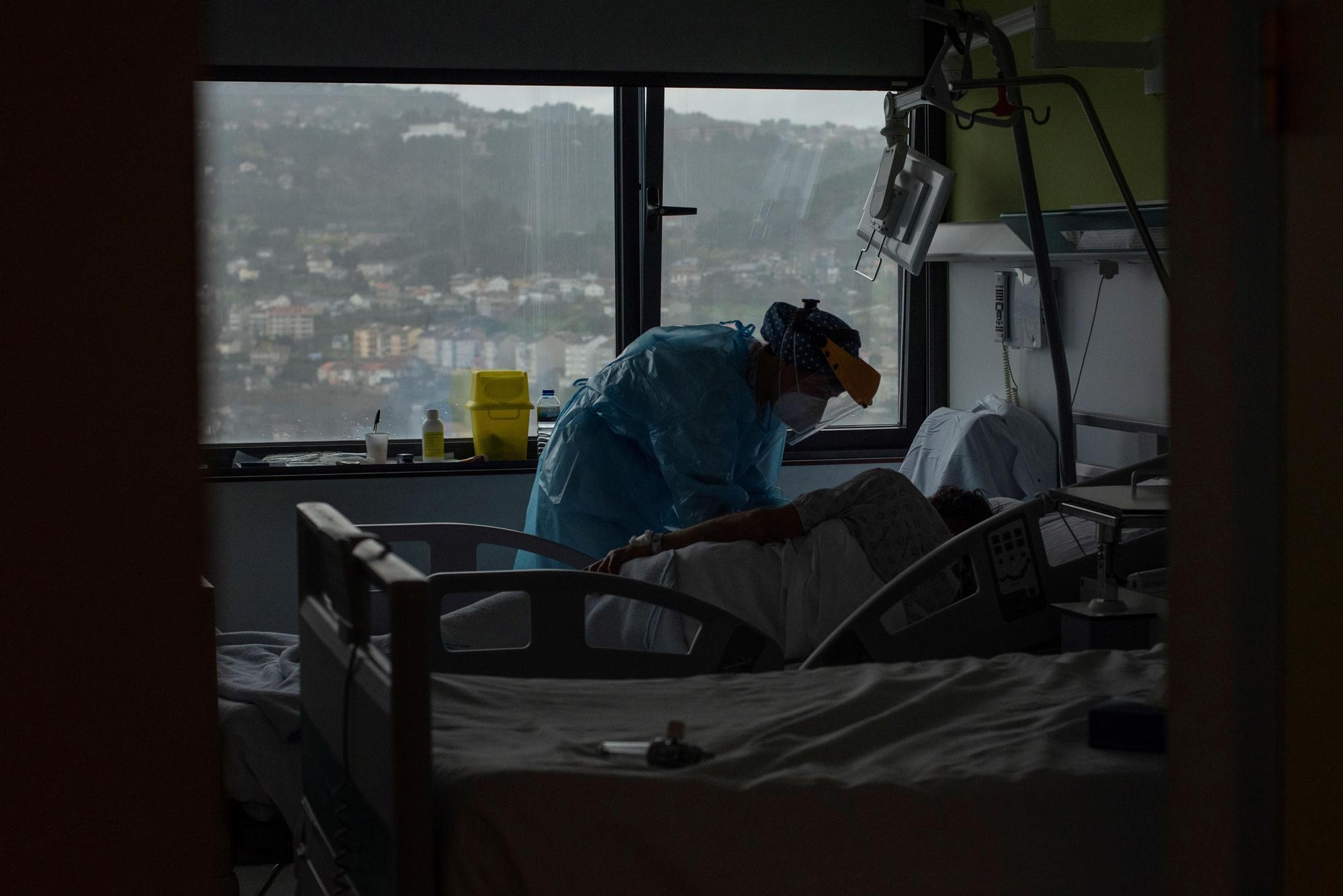 En el interior de una uci del hospital de Ourense