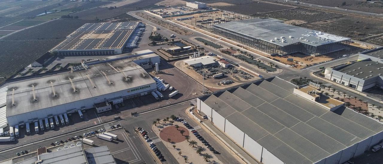 Imagen aérea del polígono industrial La Granadina