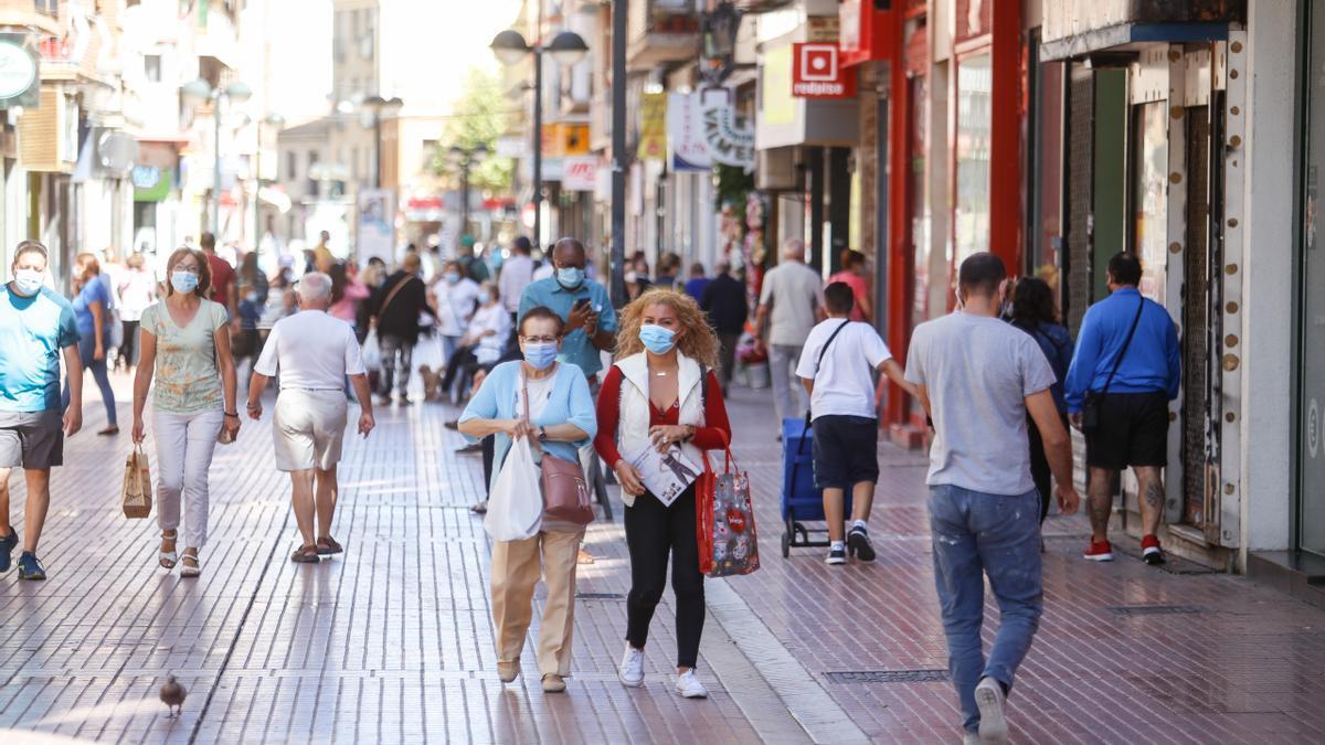 La calle Delicias de Zaragoza.