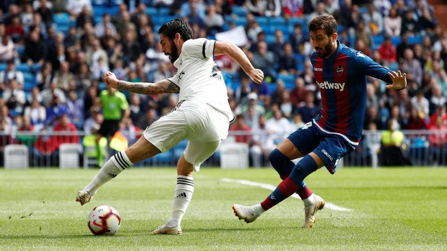 El Madrid de Lopetegui se hunde ante el Levante condenado por su falta de acierto