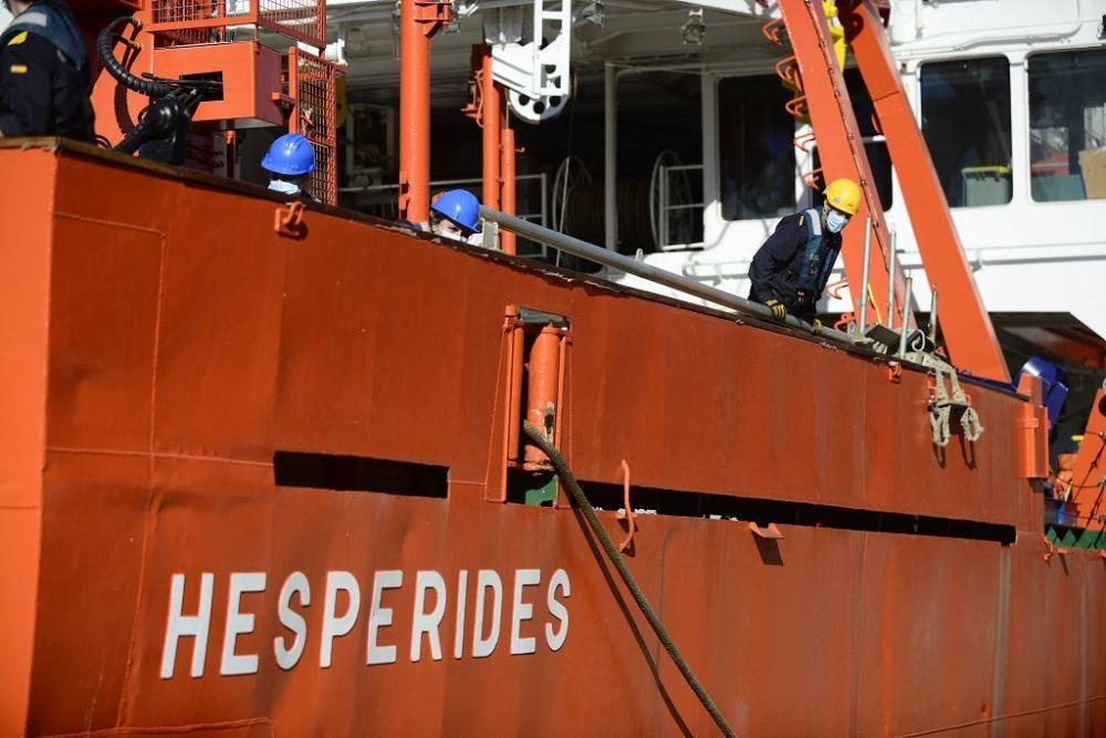 El Hespérides vuelve a casa tras una expedición fallida