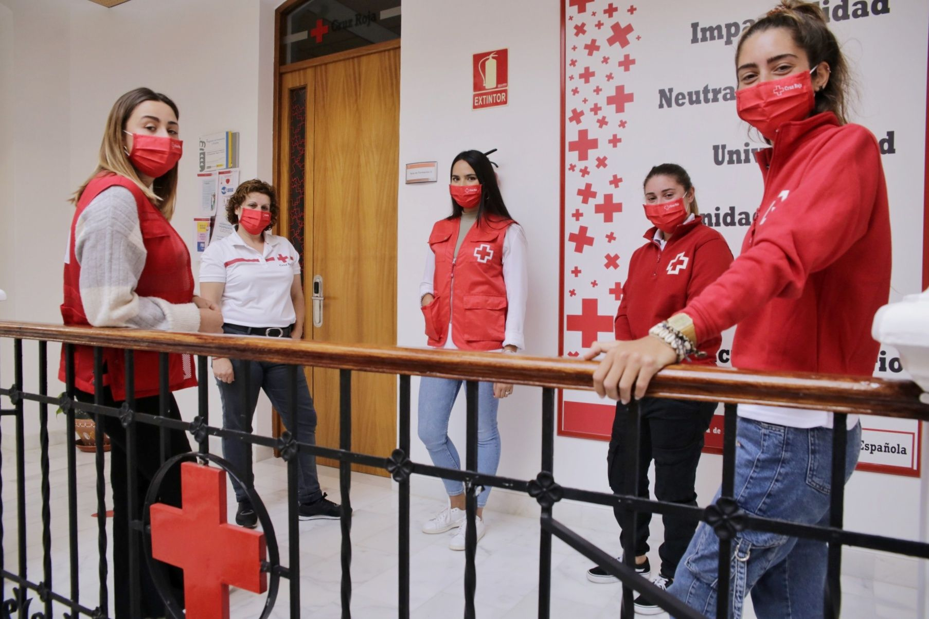 Voluntarias de Cruz Roja