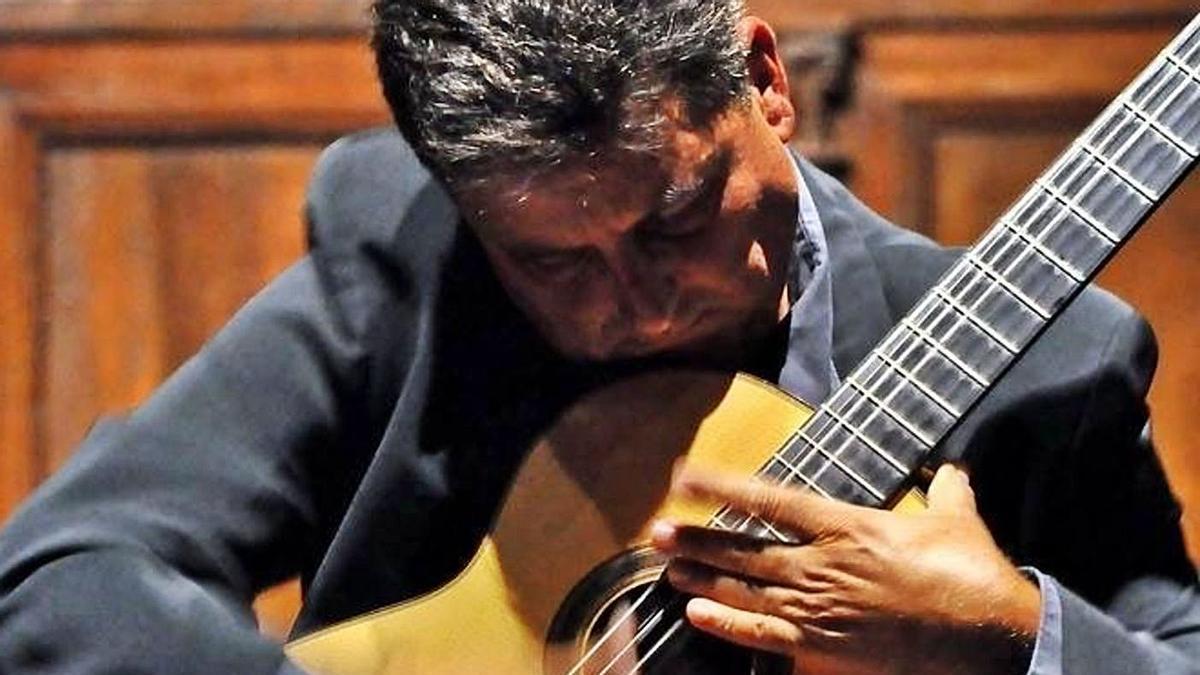 Javier García Moreno en una de sus actuaciones.