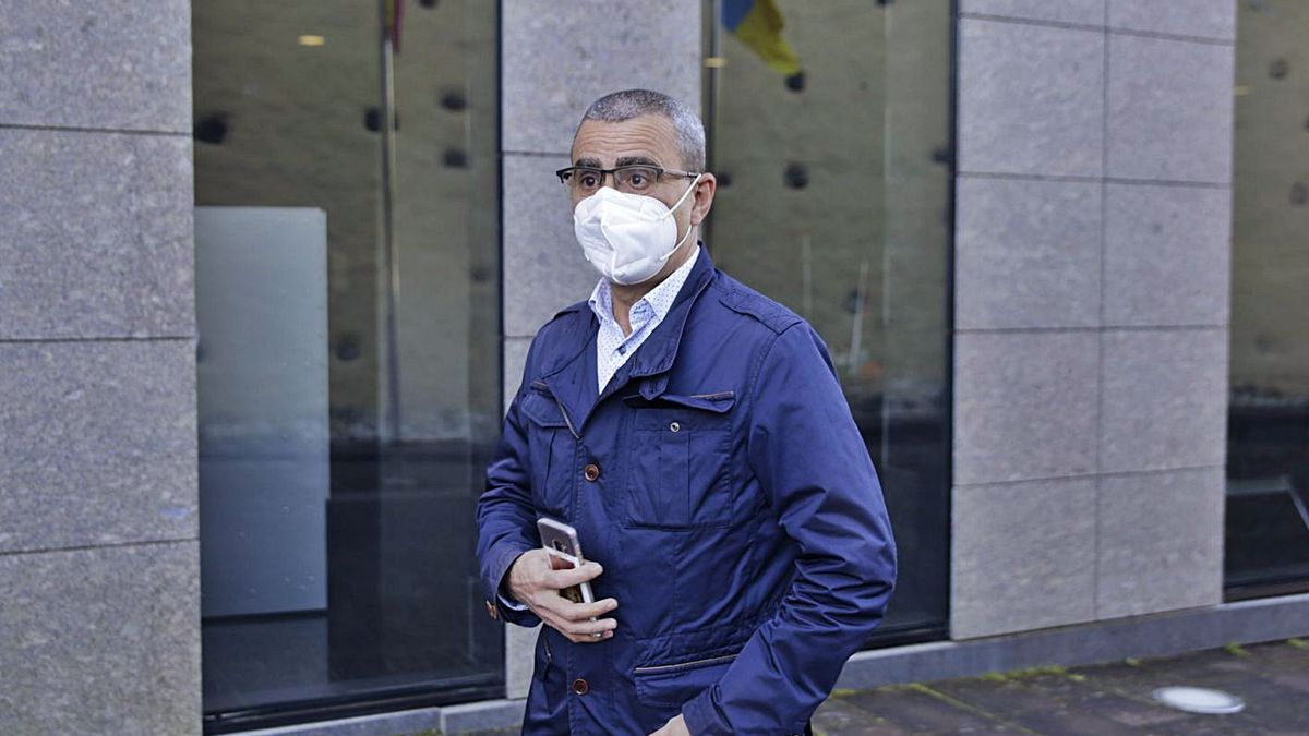 Javier Abreu acude a declarar ante el juez Pamparacuatro el pasado 4 de marzo. | | DELIA PADRÓN