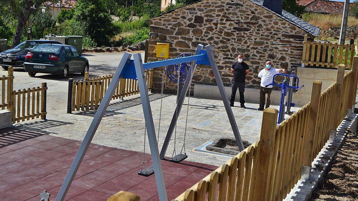Acto de inauguración del parque biosaludable de Donado.