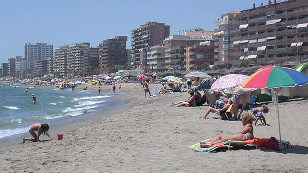 La playa de Carvajal, en Fuengirola.