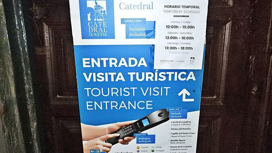 Retornan las visitas con audioguía y previo pago a la Catedral de Ourense