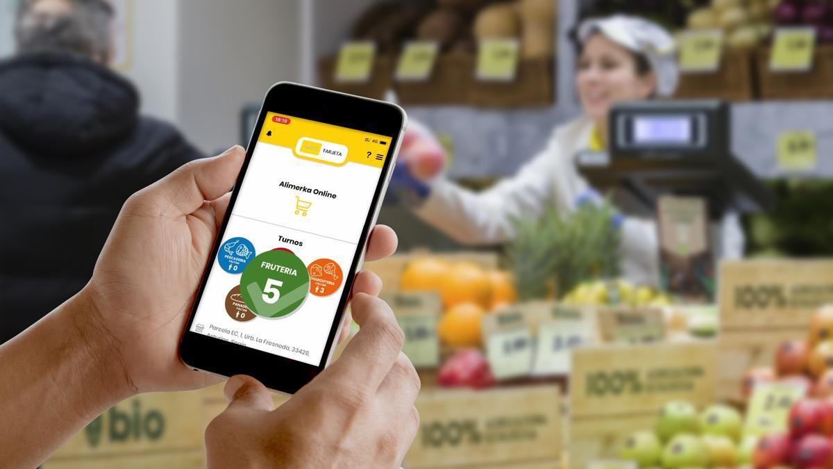 La app de Alimerka permite gestionar los turnos de frescos.