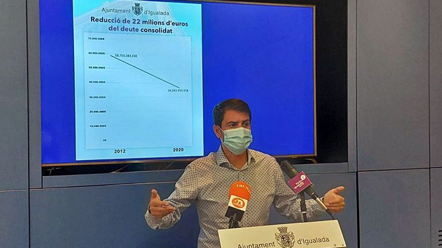 L'Ajuntament d'Igualada ha eixugat prop del 40% del deute en deu anys