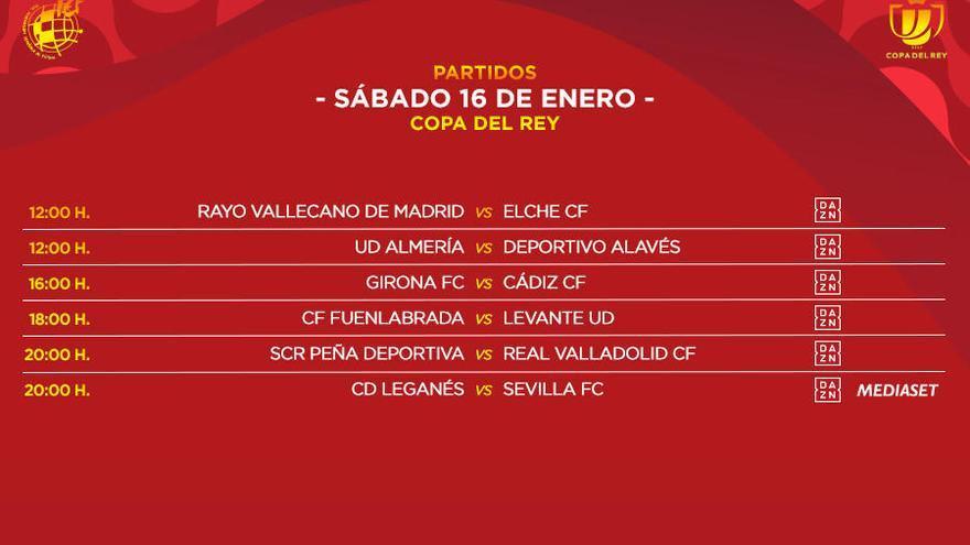 El Girona-Cadis de la Copa del Rei es jugarà el dissabte 16 a les 4 de la tarda