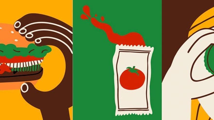 Dos ilustradoras valencianas reinventan la imagen de Burger King