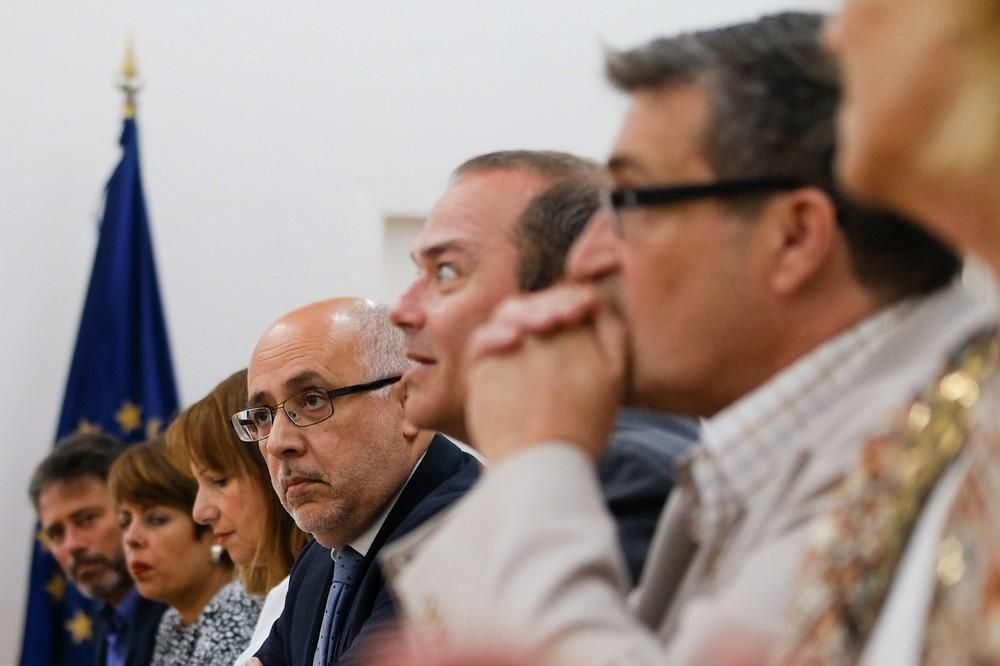 Visita oficial a Las Palmas de Gran Canaria del presidente del Cabildo, Antonio Morales