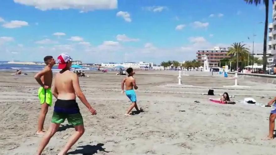 Las playas de Levante y Gran Playa de Santa Pola abren al baño